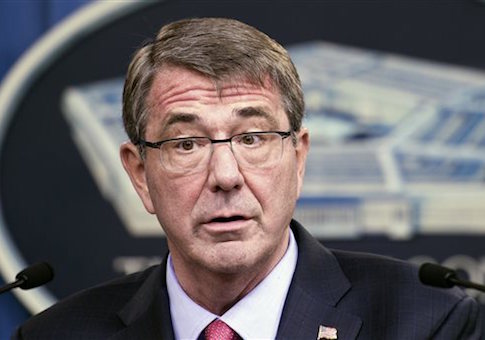 FILE - In this Jan. 28, 2016 file photo, Defense Secretary Ash Carter speaks during a news conference at the Pentagon, in Washington. U.S. military troops may be able to sidestep the Pentagonís entrenched ìup or outî promotion system under sweeping new proposals being unveiled Thursday, June 9, 2016, aimed at keeping high-tech experts or other specialists on the job, according to defense officials. Carter is expected to roll out the plans Thursday, marking the third - and most groundbreaking - installment in his campaign to modernize the militaryís antiquated bureaucracy. (AP Photo/Cliff Owen, File)