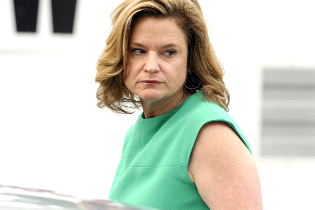 050912-EDWARDS-DM-8.jpg Witness Jennifer Palmieri, who was commutations director for Edwards in 04, arriving at John Edwards trial, Greensboro Federal Court today, Greensboro, NC. David McGlynn 5/9/12